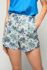 Shorts en brocado floral