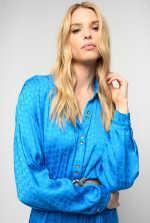 Shirtdress in geometric jacquard