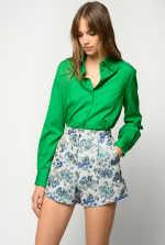 Shirt in geometric jacquard