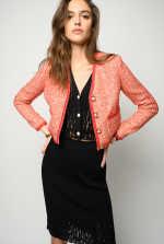 Short lurex tweed jacket