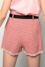 Micro pattern hopsack shorts