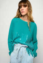 Sweater in cashmere and sequins