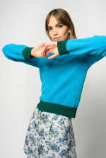 Sweater with lurex trim
