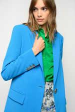 流动感绉纱西装外套