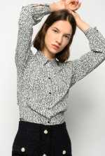 Polka-dot with logo print shirt