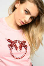 Love Birds embroidery T-shirt