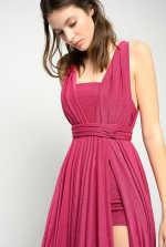金属丝长款连衣裙