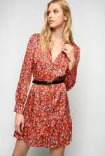 Micro floral print dress