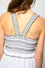 Striped dress with straps