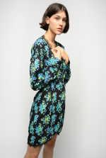Belted floral dress
