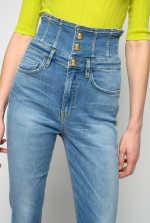 Super high-rise skinny jeans in soft stretch denim