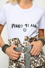 T-shirt en jersey « PINKO ti amo »