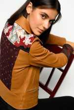 Giacca biker in pelle e kimono in seta Limited Edition