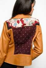Veste biker en cuir et kimono en soie en édition limitée