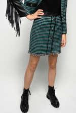 Mini-jupe en tweed