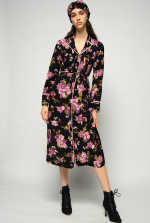 花卉印花衬衫式连衣裙