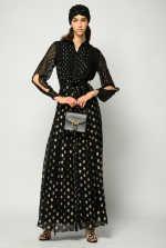 Maxi polka-dot dress