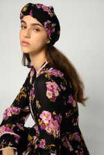 Floral print turban