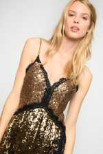 Dress in full square sequins