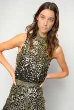 Shaded full-sequin top