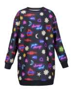 Dress in neon print fleece