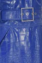 Crocodile-print dress
