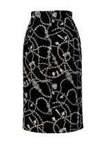 Jewel print skirt