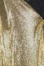 Lace and metallic knit dress