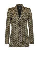 1970s long jacquard blazer