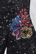 All-over sequin dress with jewel embroidery