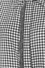 Camicia con frange di strass