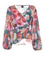 Bouquet-print blouse