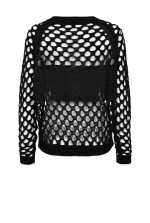 Mesh-effect pullover