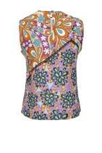 70年代花卉印花上衣