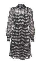 Polka-dot-print devoré satin dress