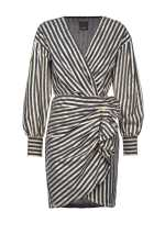 Dress with lurex stripe