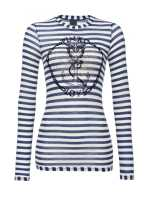PINKO Love striped top with anchor