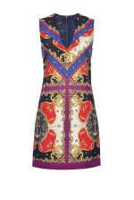 Chain-print cady dress