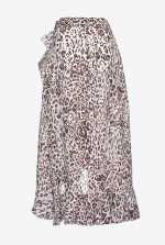 Skirt in leopard-print ramie
