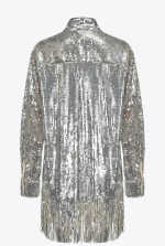 Shirt-style jacket in full sequins