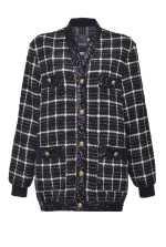 Check cardigan jacket