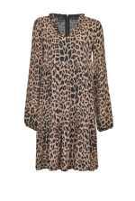 豹纹图案迷你连衣裙