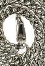 金属链斜挎肩带