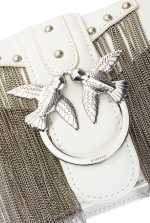 Mini Love Bag Metal Fringes in leather