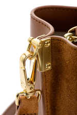 Bucket Love Bag Seventies in suede and leather