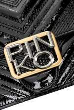 Mini Logo Bag Icon Polish in patent leather