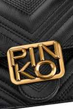 Icon Chevron皮革迷你Logo手袋