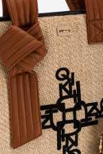刺绣酒椰叶纤维大号购物包