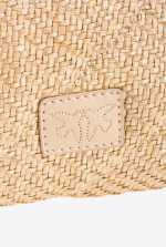 Classic Love Bag Puff Soft Rafia embroidered