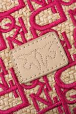 Mini Love Bag Puff Soft Rafia embroidered